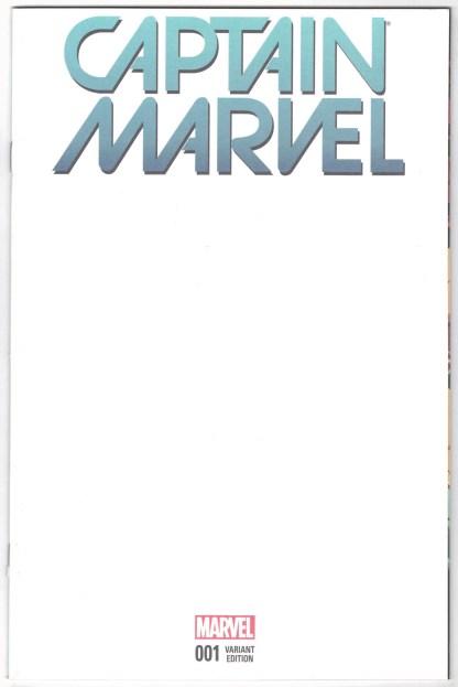 Captain Marvel #1 Blank Sketch Variant Marvel 2016 Rare Carol Danvers VF/NM