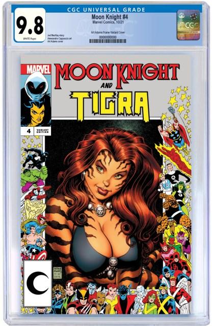Moon Knight #4 Ultimate Comics Exclusive Art Adams Marvel Frame Variant 2021 Tirga CGC 9.8