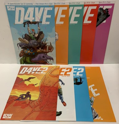 D4VE #1-5 and D4VE2 #1-4 Complete Set IDW 2015 VF/NM