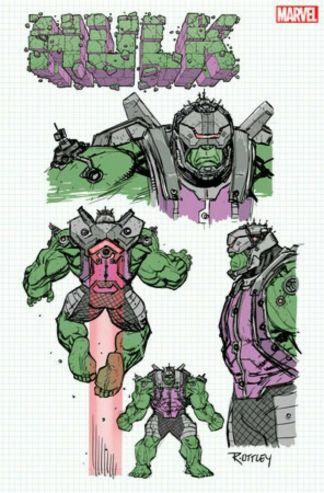 Hulk #1 1:10 Ryan Ottley Design Variant Marvel 2020 Donny Cates
