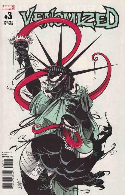 Venomized #3 1:25 Duarte Statue of Liberty Variant Cullen Bunn Marvel 2018