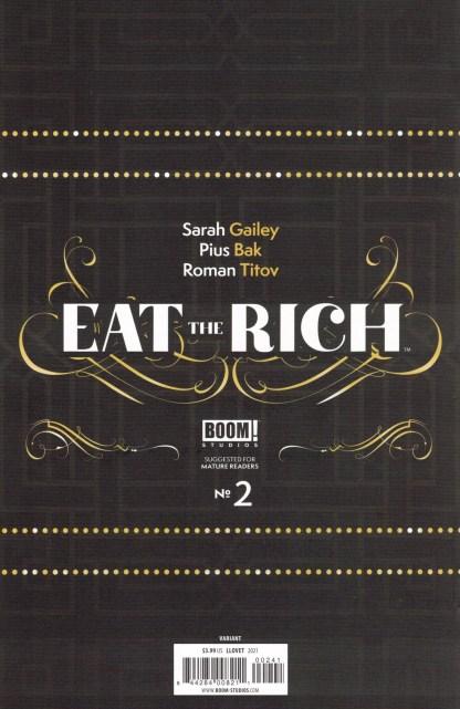 Eat the Rich #2 1:25 Maria Llovet Variant Boom! 2021