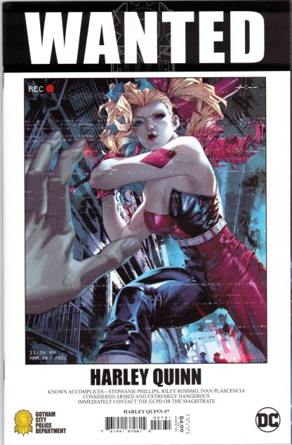 Harley Quinn #7 1:25 Kael Ngu Wanted Poster Variant DC Fear State 2021