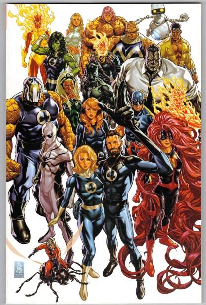 Fantastic Four #35 1:500 Mark Brooks Virgin Variant Marvel 2018 VF/NM