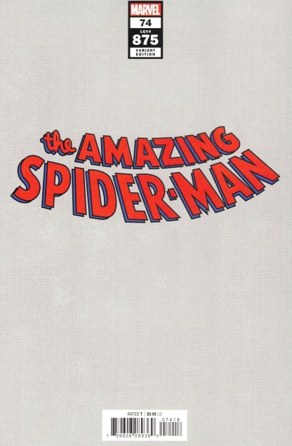 Amazing Spider-Man #74 1:100 Patrick Gleason Virgin Variant Marvel 2018