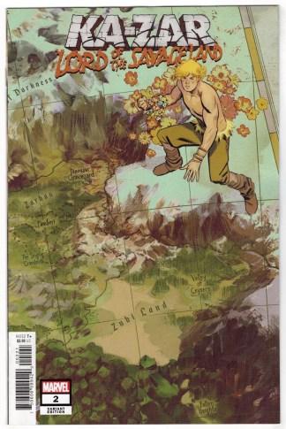 Ka-Zar Lord of the Savage Land #2 1:10 Garcia Map Variant Marvel 2021 VF/NM