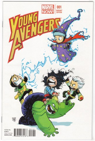Young Avengers #1 Young Variant Marvel 2012 Ms America Kid Loki Wiccan VF/NM