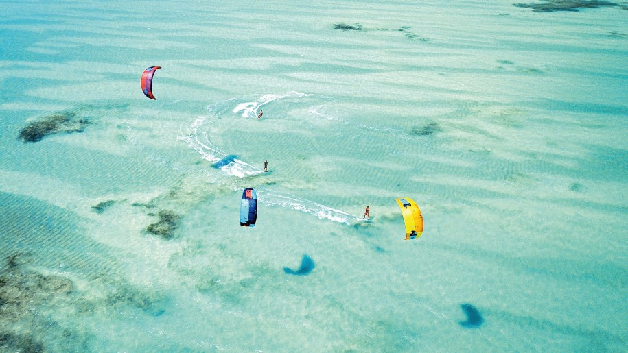 Kitesurfing the Emerald sea