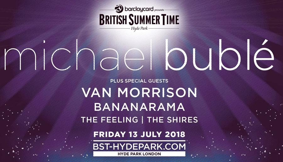 BST Hyde Park Michael Buble poster
