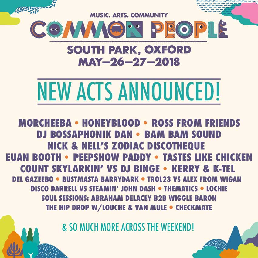 Common People Festival 2018 Oxford new acts