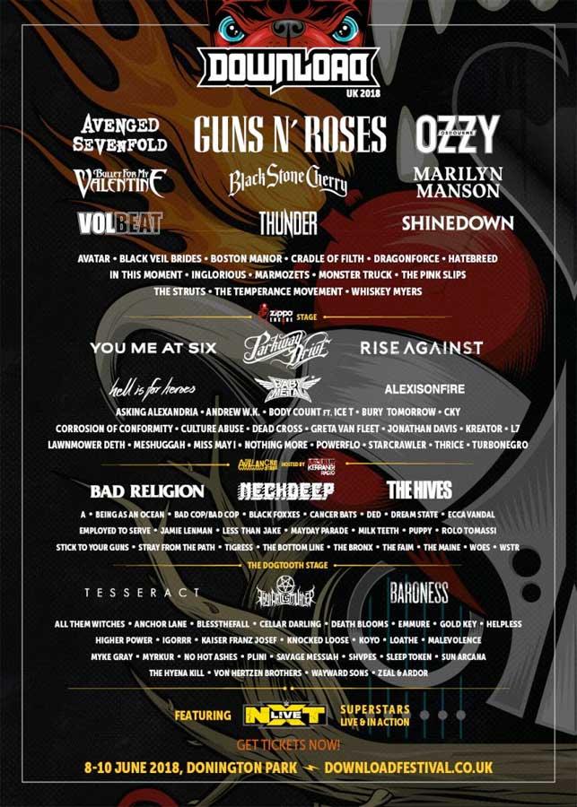 Download Festival UK 2018 poster