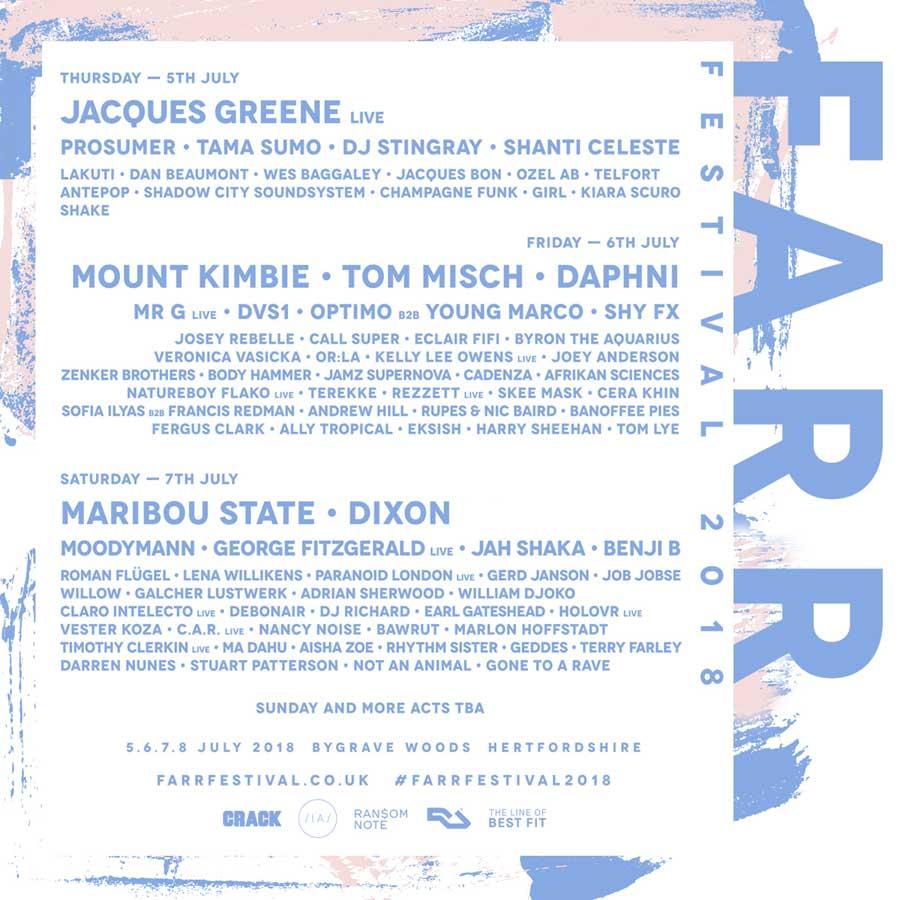 Farr Festival 2018 UK poster