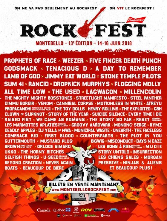 Montebello Rockfest 2018 Canada poster