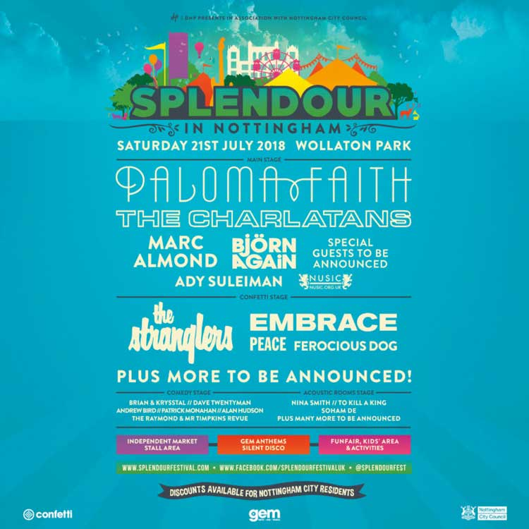 Splendour Festival 2018 UK poster
