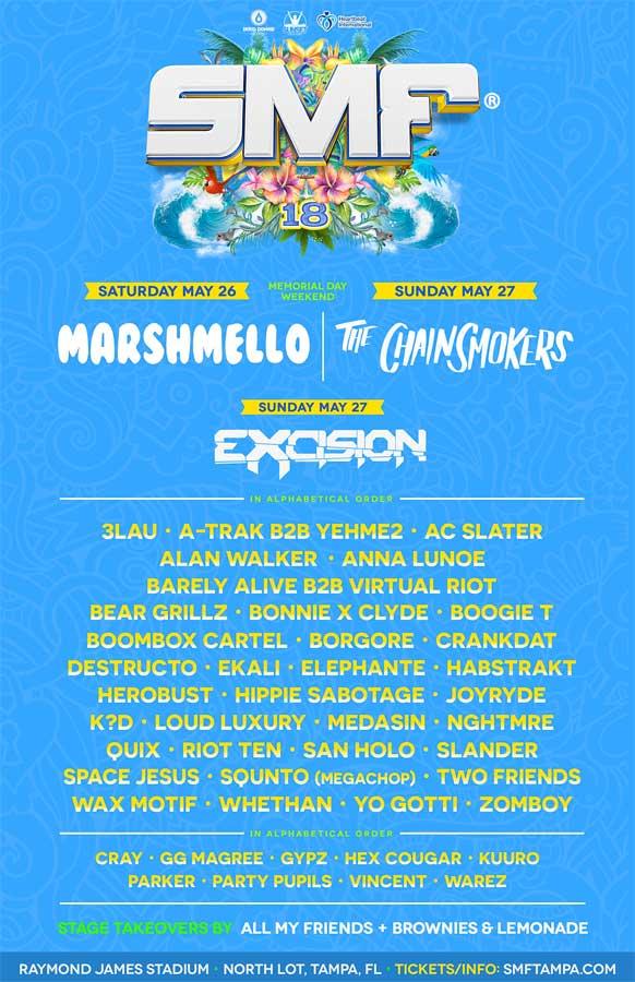 Sunset Music Festival 2018 poster