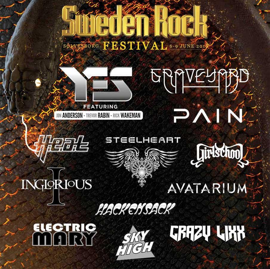 Sweden Rock Festival 2018 new bands poster