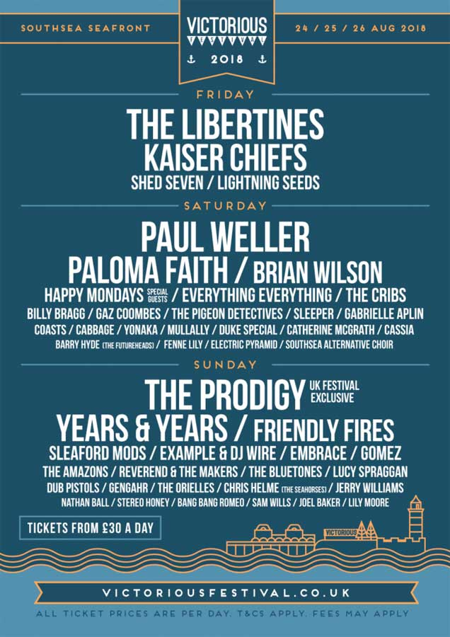 Victorious Festival 2018 UK poster