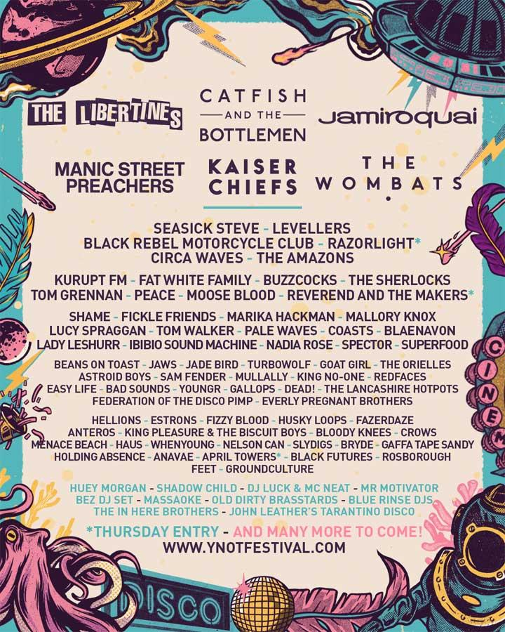 Y Not? Festival 2018 UK poster