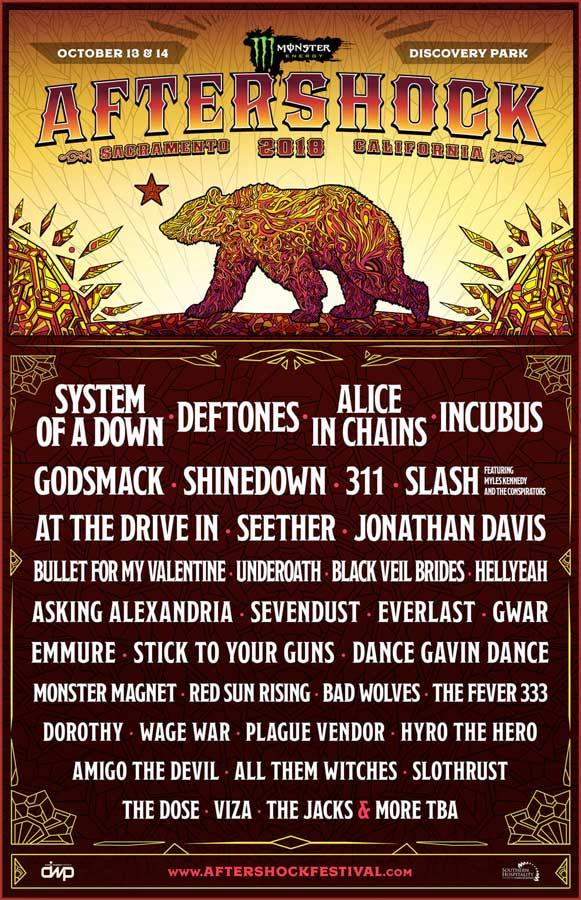 Aftershock Festival 2018 poster