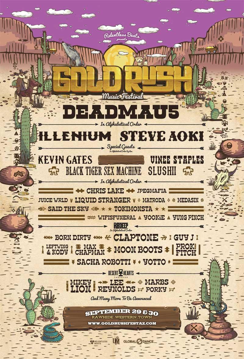 Goldrush Festival 2018 Arizona phase1 acts