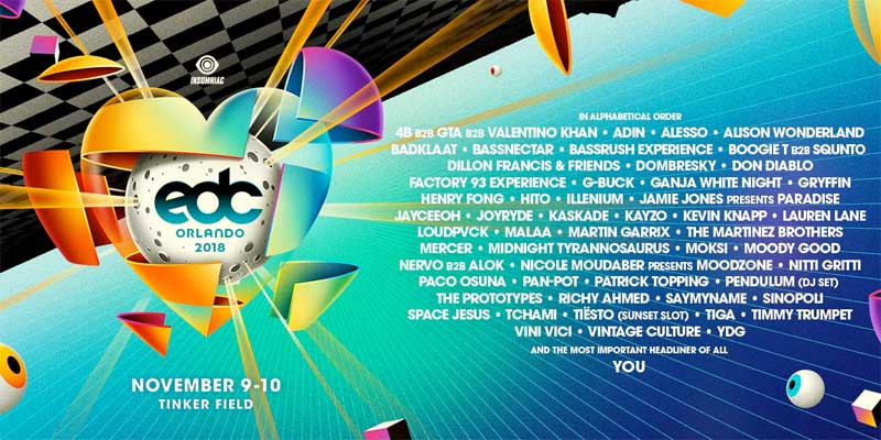 EDC Orlando 2018 poster