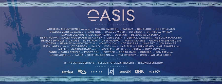 Oasis Festival 2018 Morocco poster