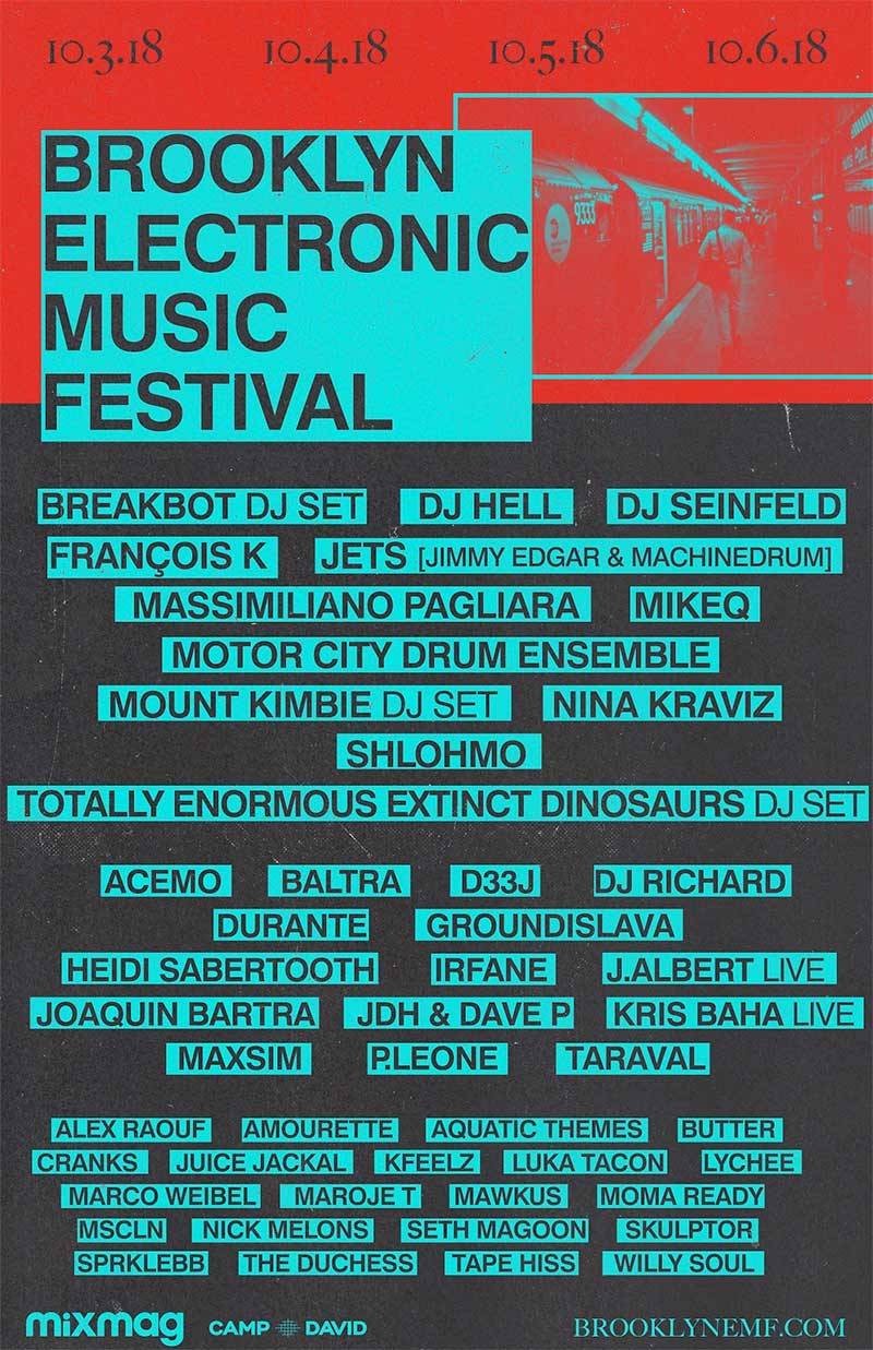 Brooklyn Electronic Music Festival 2018 poster