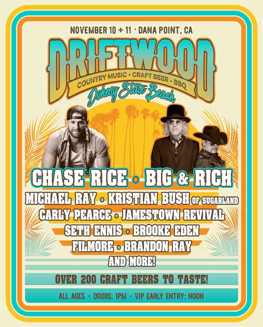 Driftwood Country Music Festival California 2018 poster