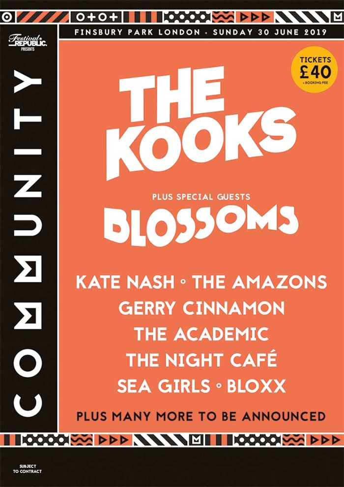 Community Festival London 2019 first bands poster