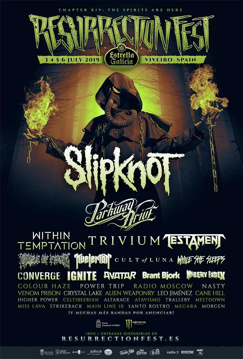 Resurrection Fest 2019 Spain poster Slipknot