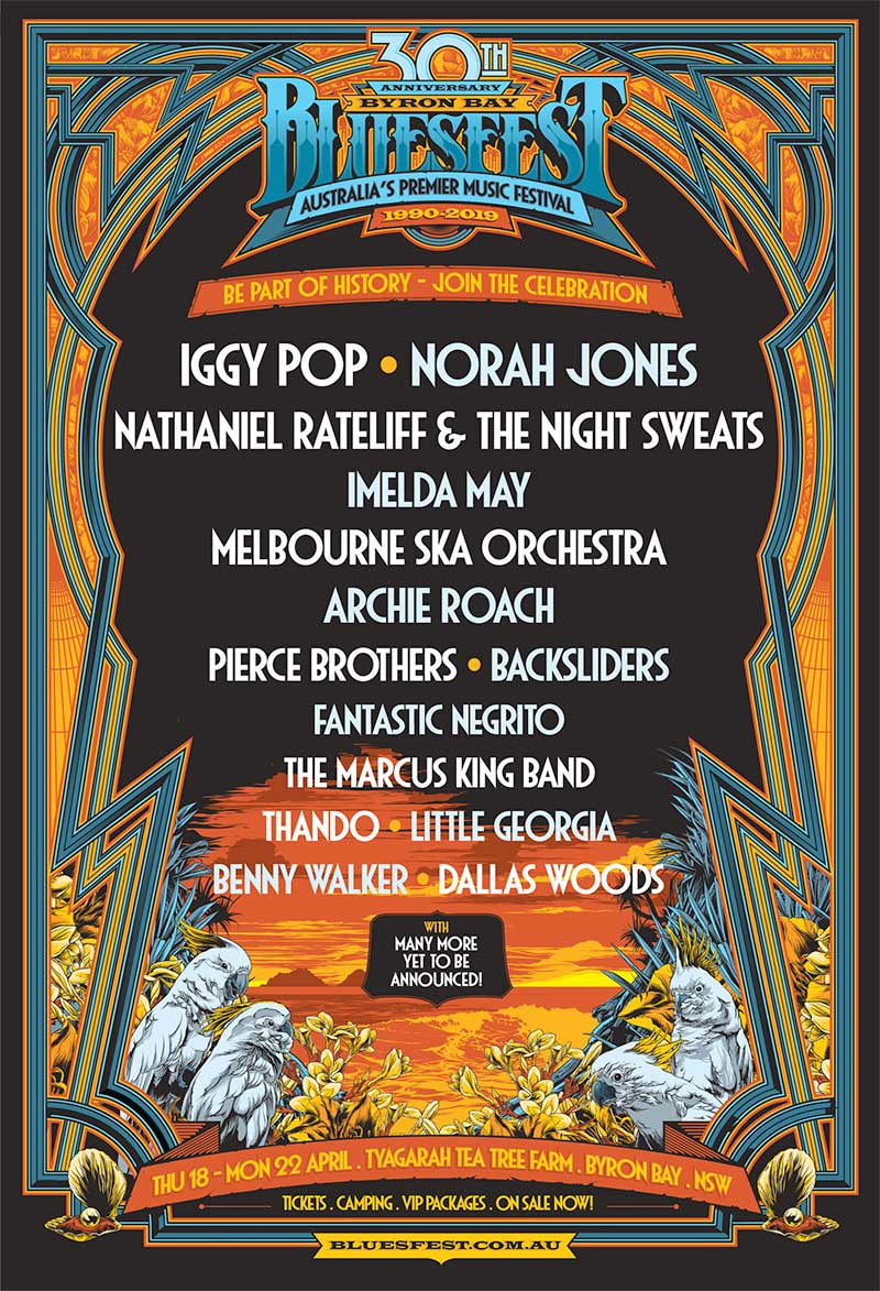 Bluesfest Byron Bay 2019 new acts poster november