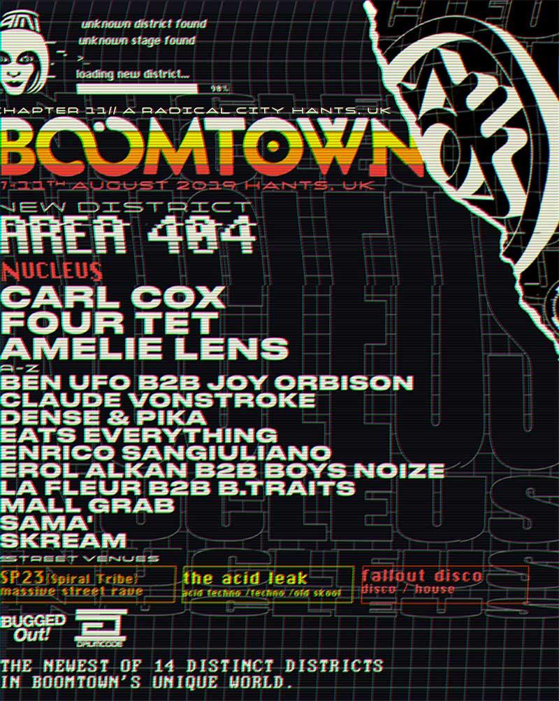 Boomtown Fair Area 404 poster
