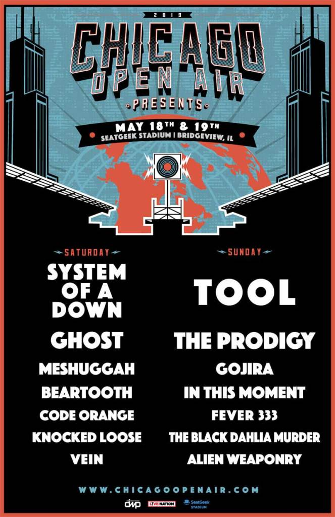 Chicago Open Air Festival 2019 poster