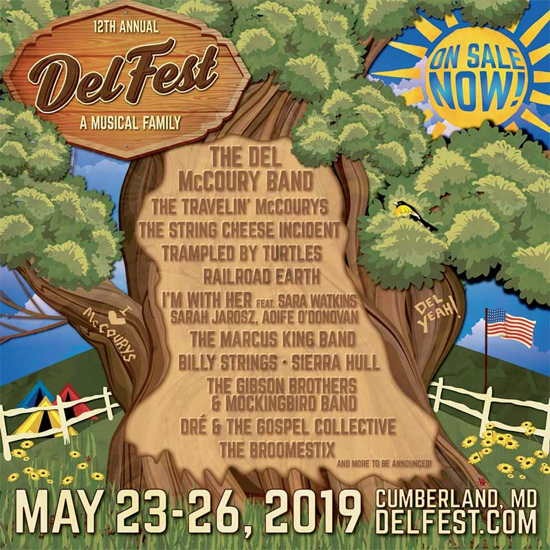 Delfest USA 2019 initial line up poster