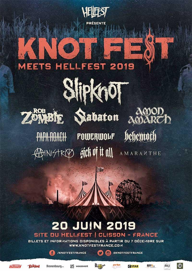 Knotfest France 2019 poster
