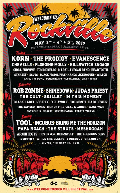 Welcome to Rockville 2019 line up poster