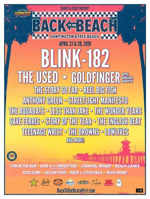 Back to the Beach Festival 2019 poster