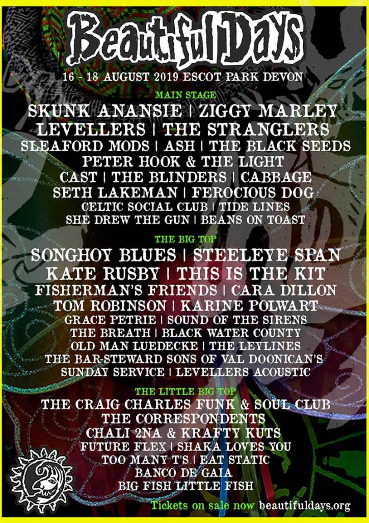 Beautiful Days Festival 2019 UK first bands poster