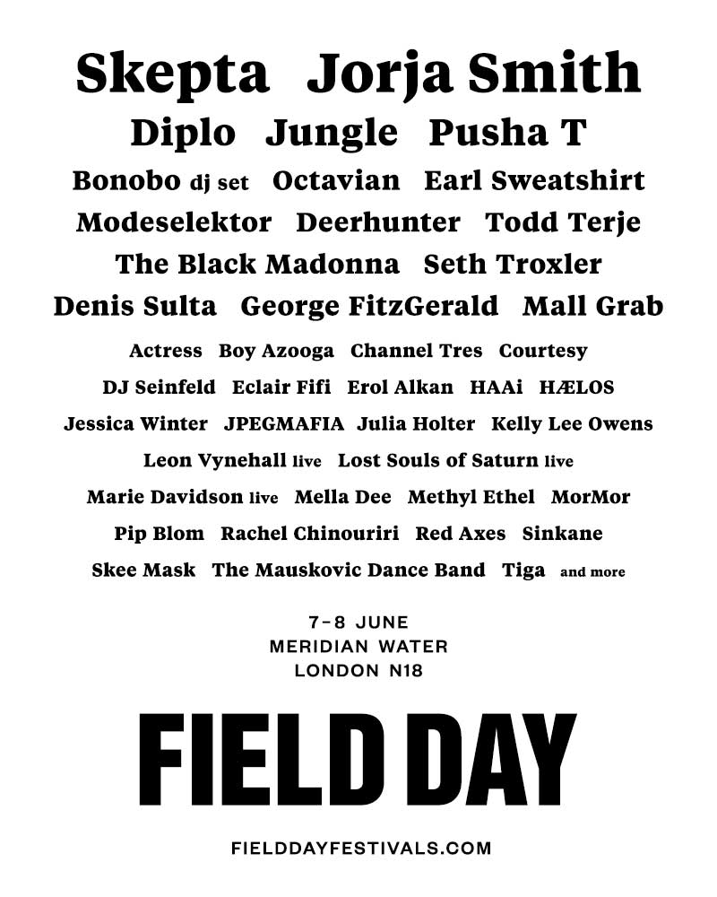 Field Day Festival UK 2019 first phase artists poster