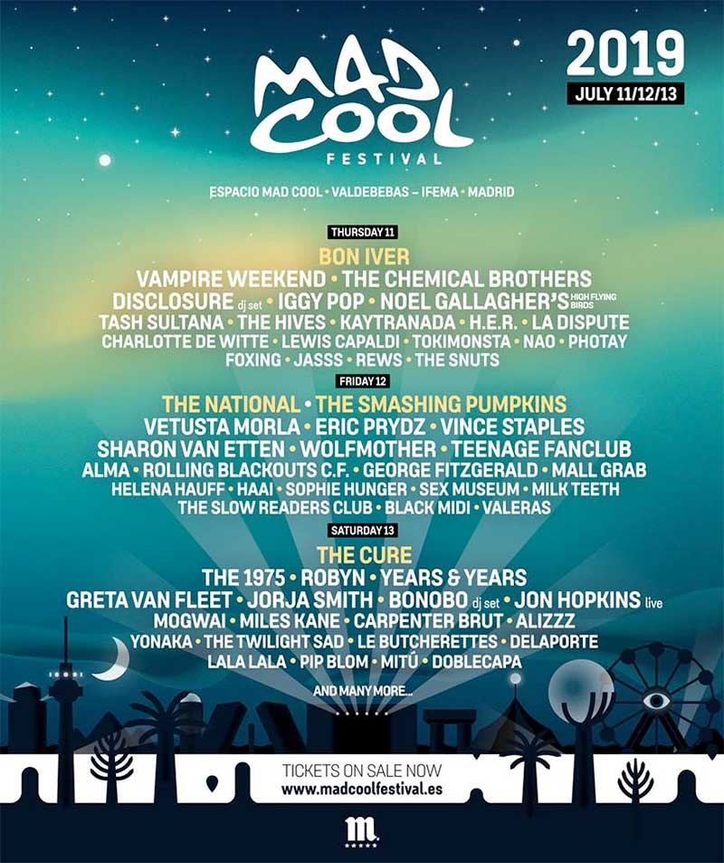 Mad Cool Festival 2019 poster