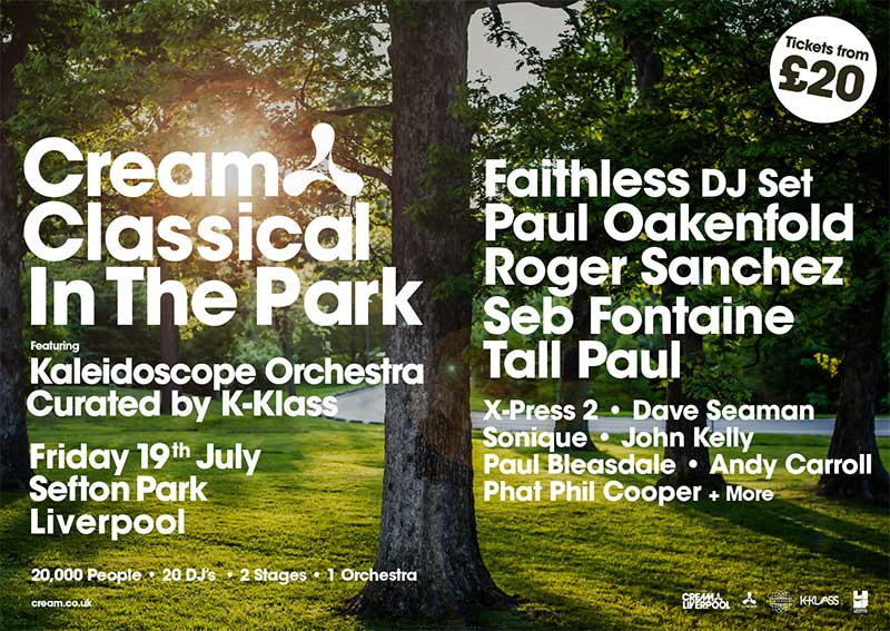 Cream Classical in the Park 2019 UK poster