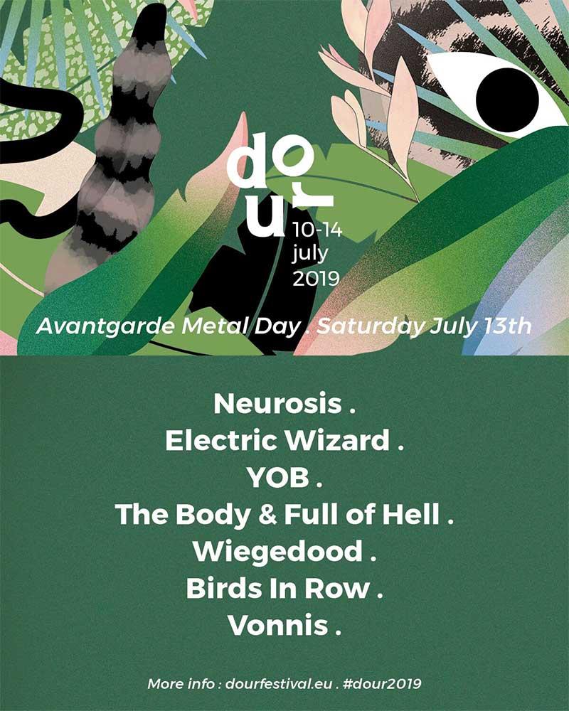 Dour Festival avant garde metal day poster