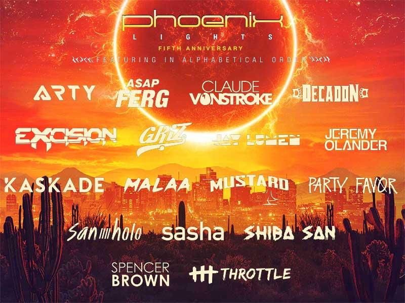 Phoenix Lights Festival latest poster feb19