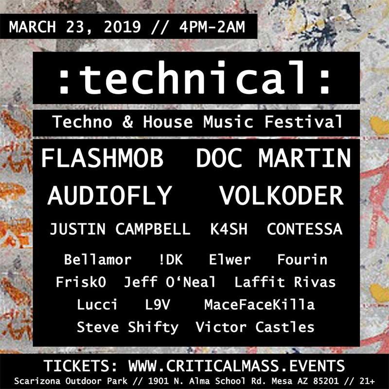 Technical Festival 2019 Arizona poster