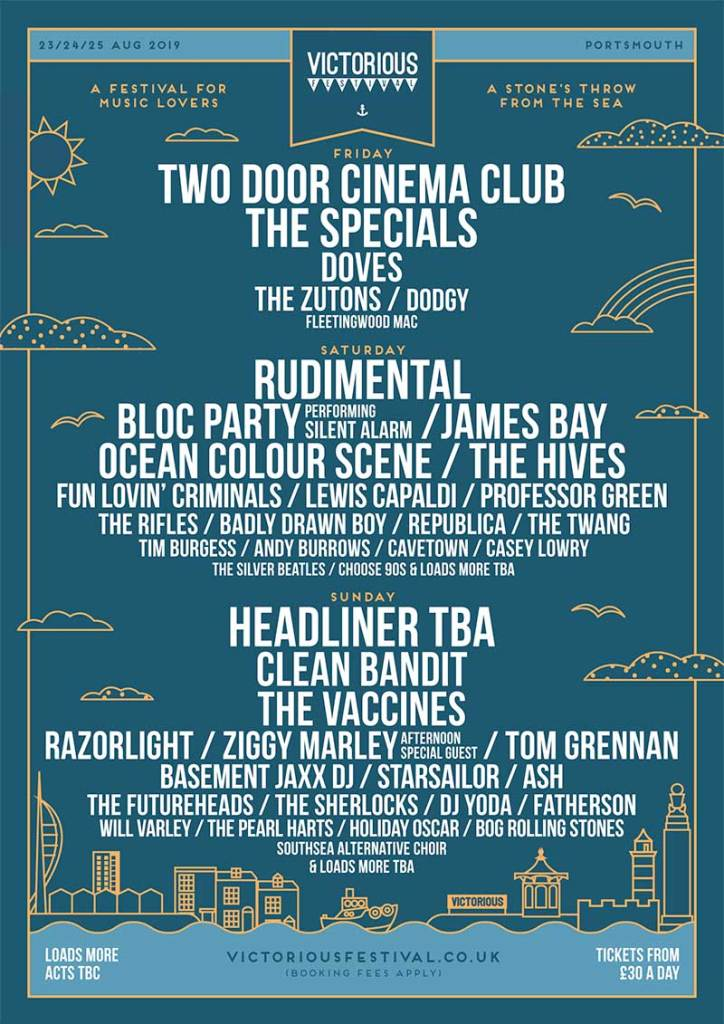 Victorious Festival UK 2019 2nd wave poster
