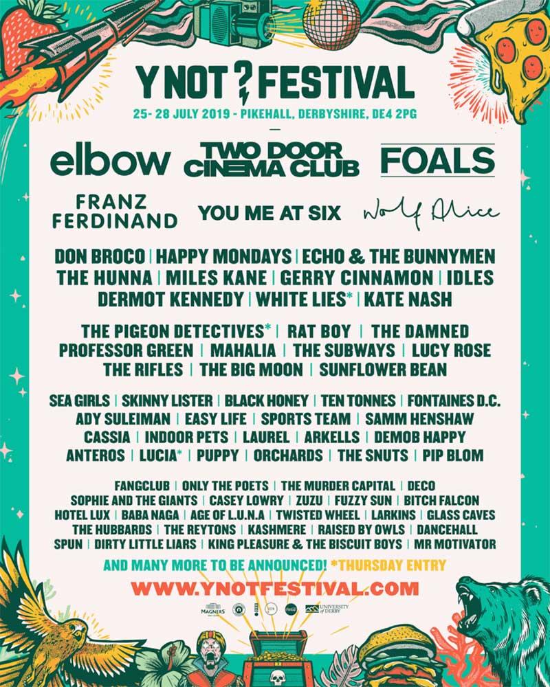 Y Not Festival UK 2019 poster