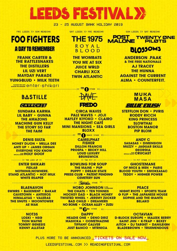Buy tickets and accommodation packages for Leeds Festival 2019 UK from Festicket