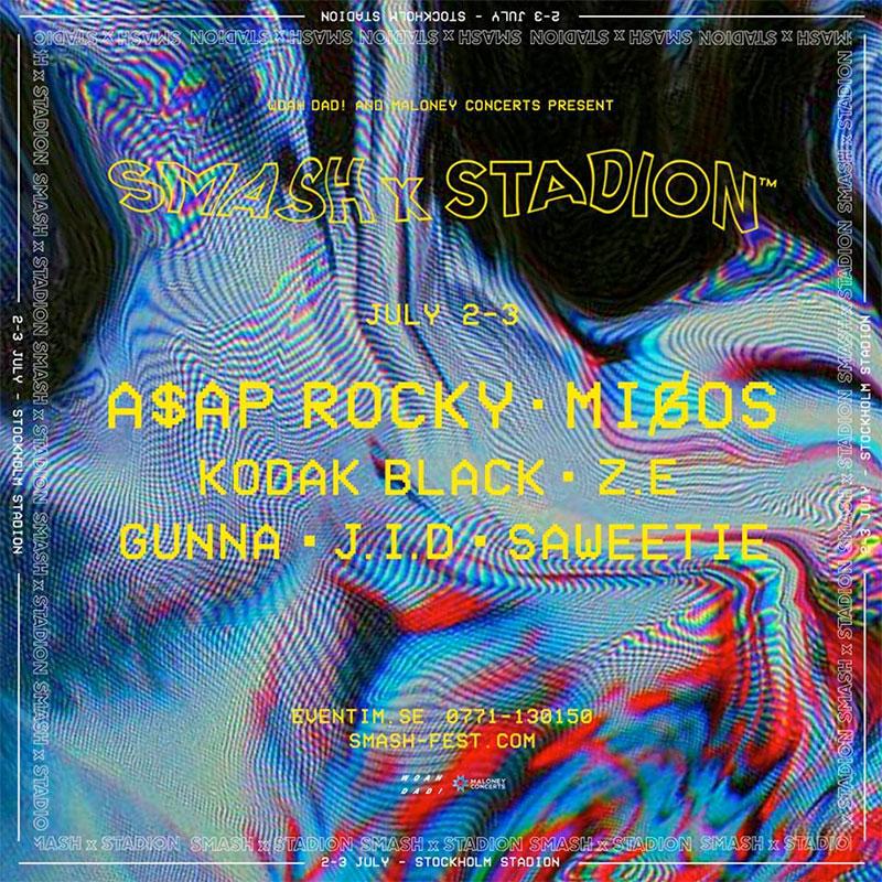Smash Stadion 2019 poster Sweden
