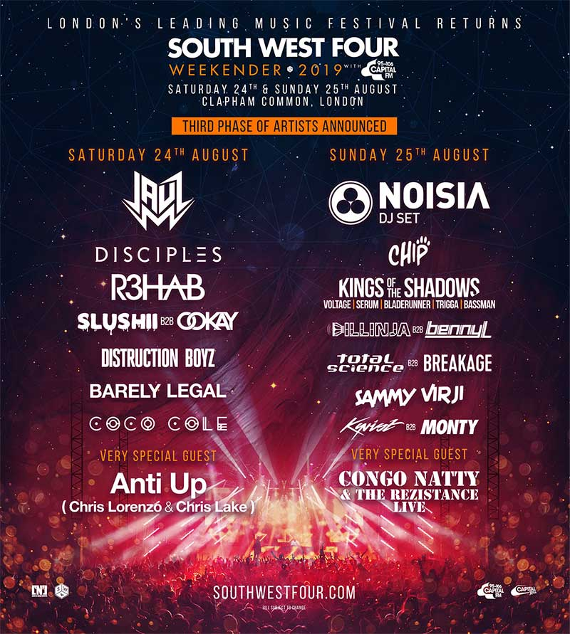 South West Four 3rd announce UK