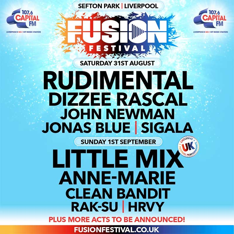 Fusion Festival UK 2019 first acts poster